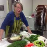 30.1.2016 Kreetalaisen ruuan kokkauskurssi, Merja Tuominen-Gialitaki