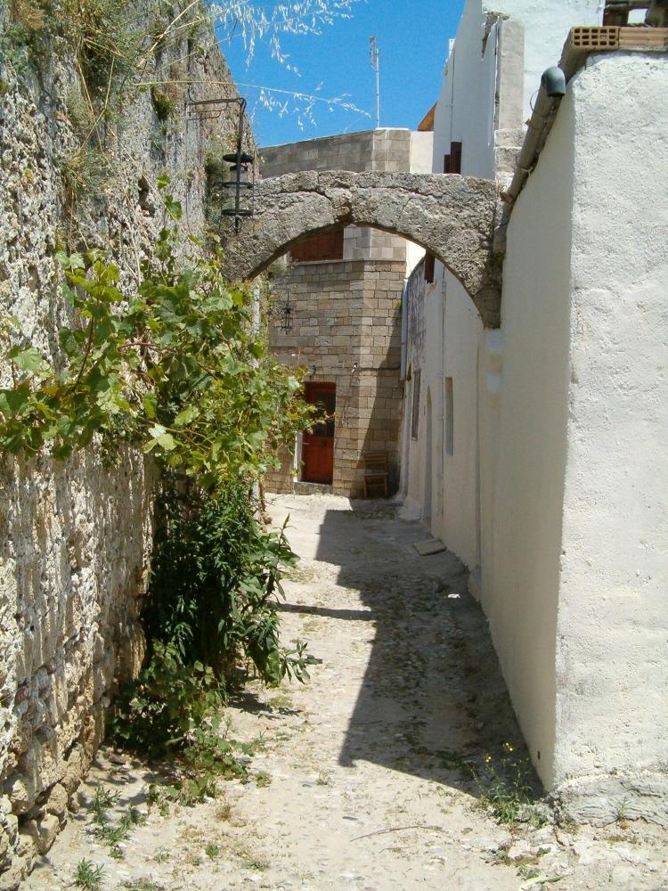 Rhodoksen vanhaa kaupunkia